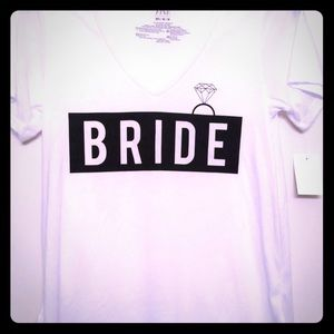 Bride Tee Shirt. M, L, XL Mighty Fine NWT